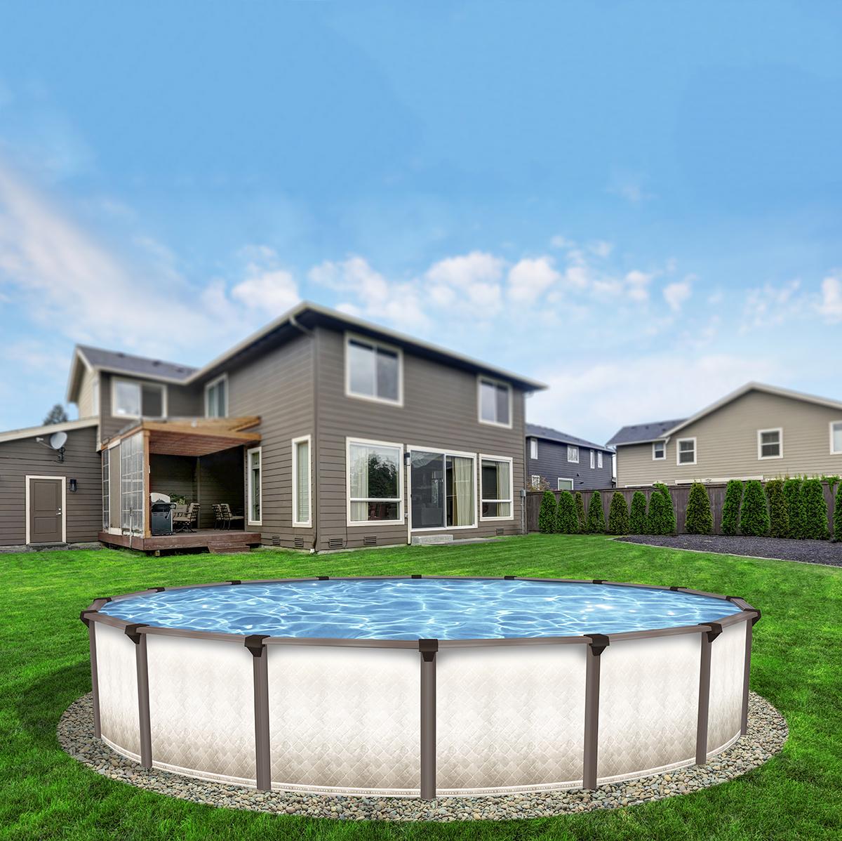 Piscine hors terre ara en acier concept piscine design for Piscine design concept