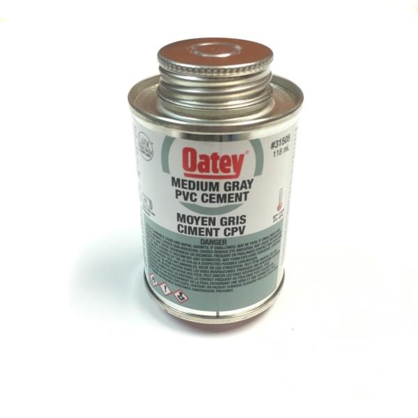 Colle PVC grise 4 oz
