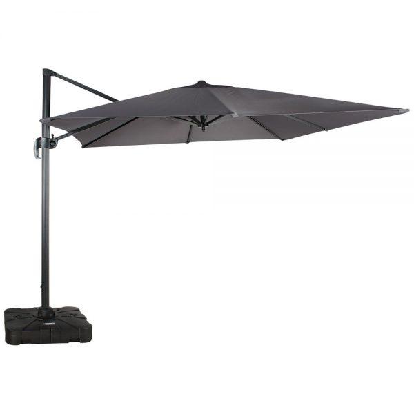 parasol décentré gris carré ultra robuste pour spa