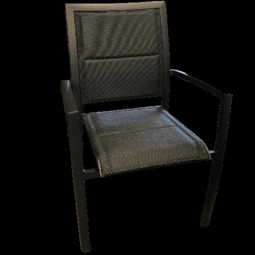 chaise pour mobilier d'extérieur noir