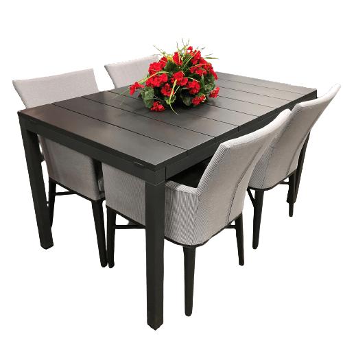 meuble de patio comprenant la table d'extérieur rio