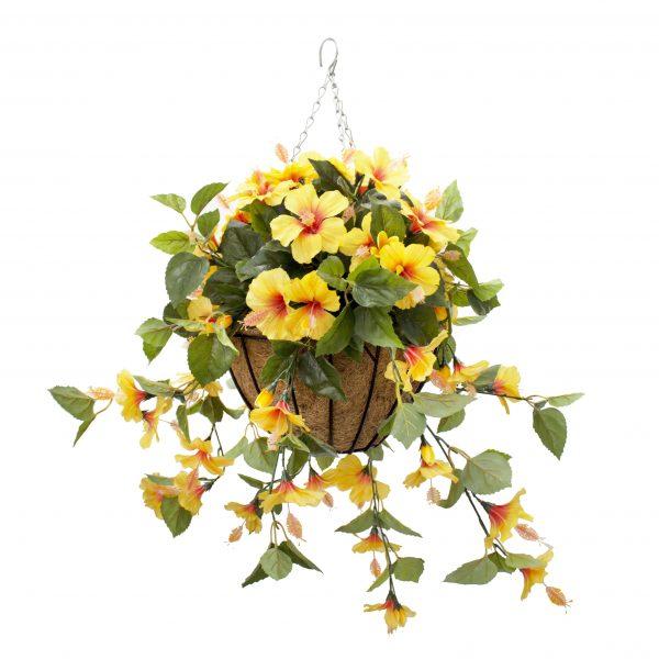 Jardinière-hibiscus-jaunes-decoration-exterieur-fausse_plante