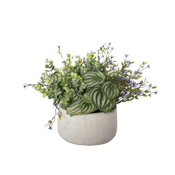 Centre de table fleurs mauves