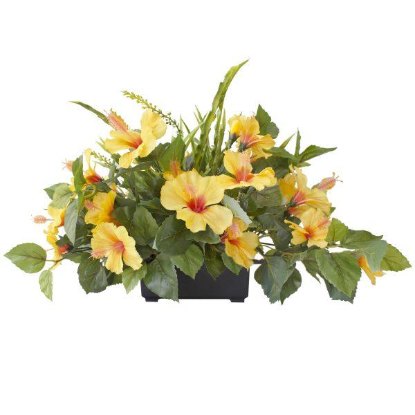 Centre_de_table-hibiscus-jaune-decoration-exterieur-fausse_plante