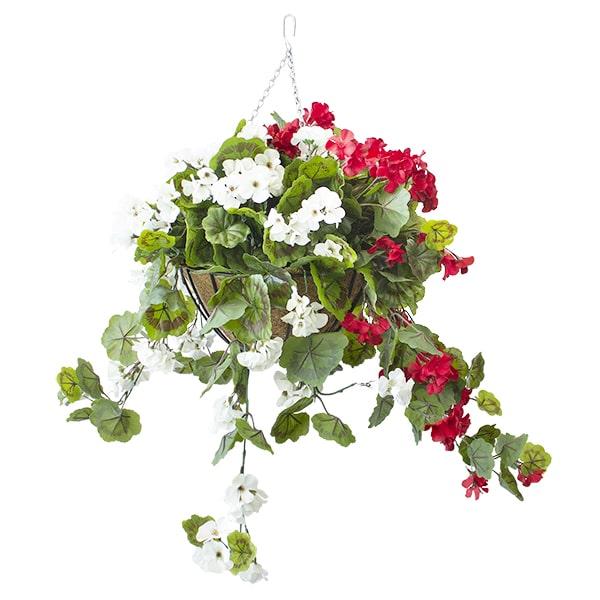 Jardinière-géraniums-rouge-blanc-decoration-exterieur-fausse_plante
