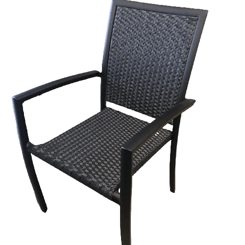 chaise noire pour mobilier extérieur