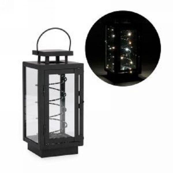 lanterne-metal-noire-bobine-LED-decoration-exterieur