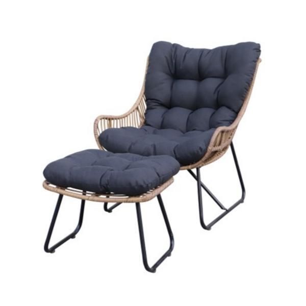 fauteuil exterieur borealis à coussin noir en rotin pour votre ensemble patio