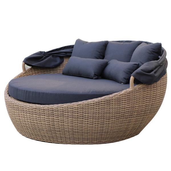 sofa rond ouvert pour le patio dans meuble de jardin