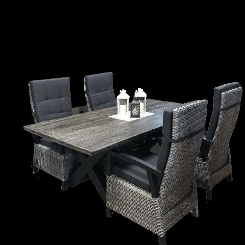 ensemble à diner avec table extérieur lagoona